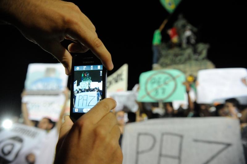 Protesto no Rio de Janeiro. Foto: Agência Brasil